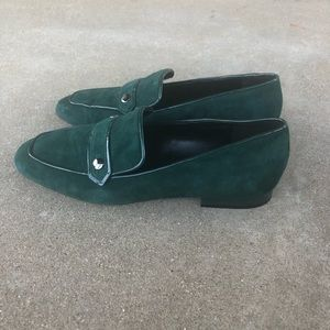 Nine West green suede Loafers